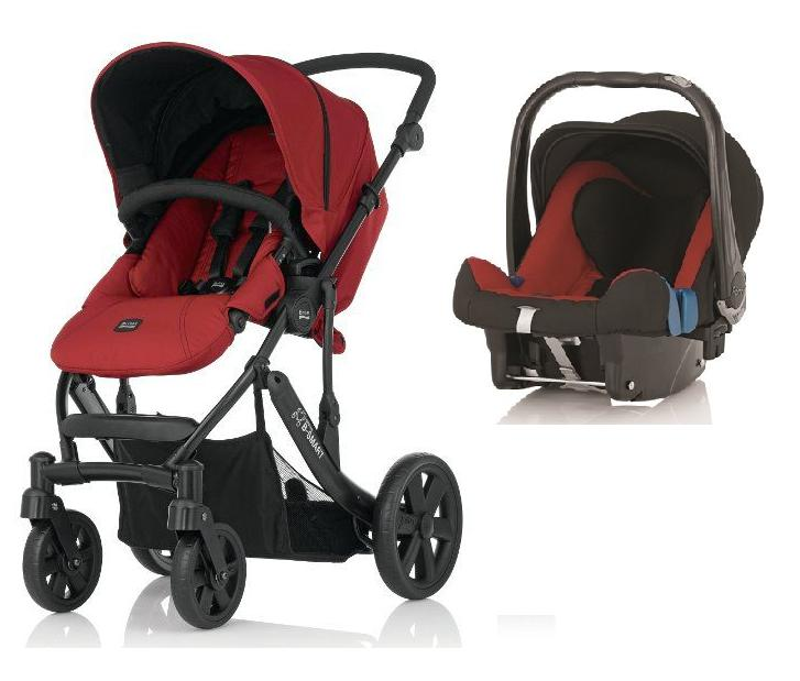 duo poussette b smart 4 roues cosy babysafe chili pepper. Black Bedroom Furniture Sets. Home Design Ideas