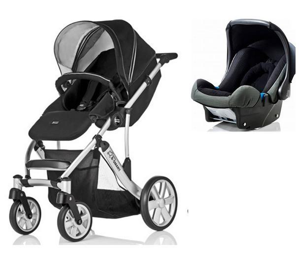 duo poussette b smart 4 roues cosy babysafe neon black. Black Bedroom Furniture Sets. Home Design Ideas