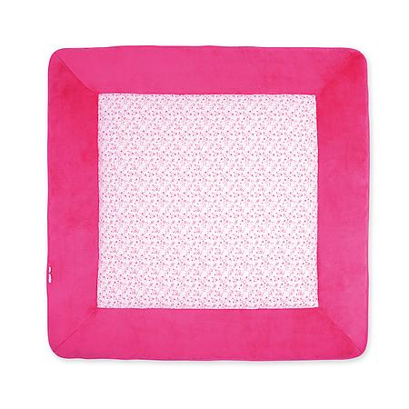 Tapis de parc 100 x 100cm softy jersey lizie fleurs rose bemini momentbebe - Tapis de parc bemini ...
