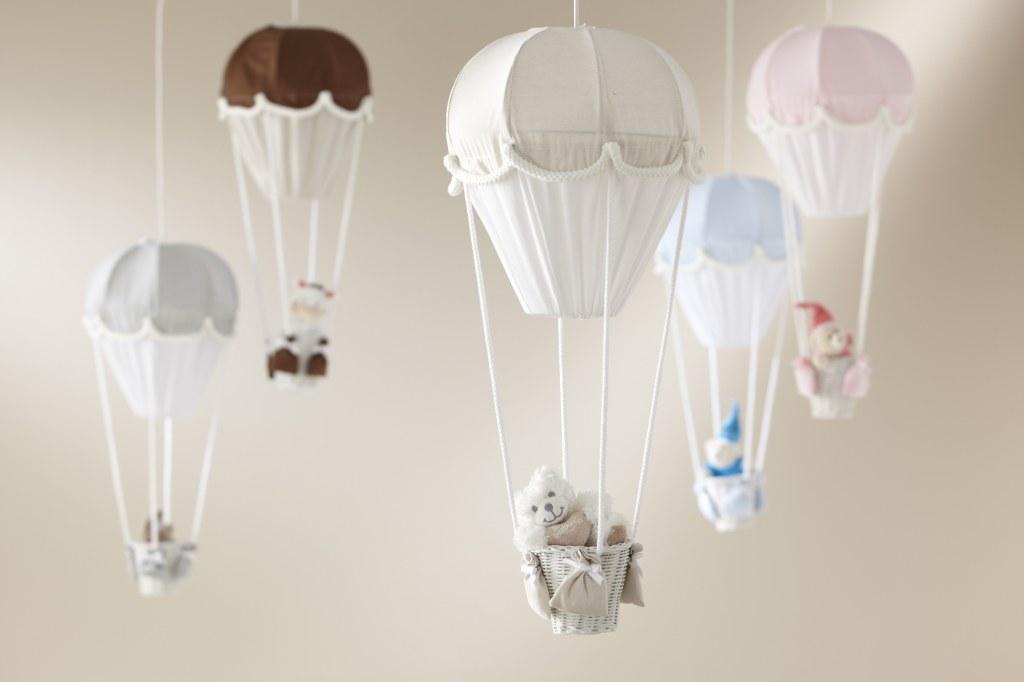 lustre montgolfiere gris perle domiva momentbebe. Black Bedroom Furniture Sets. Home Design Ideas
