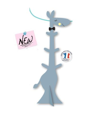 porte manteau girafe bleu titoutam magasin en ligne il t b b. Black Bedroom Furniture Sets. Home Design Ideas