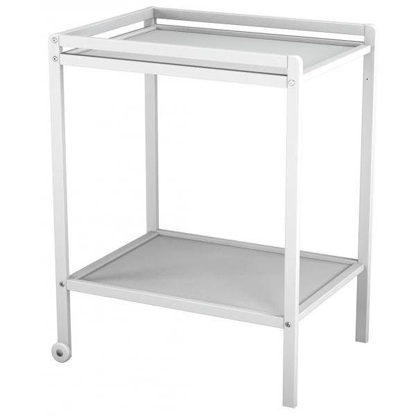 Table a langer blanche 1 tagere atelier t4 momentbebe for Table a langer blanche