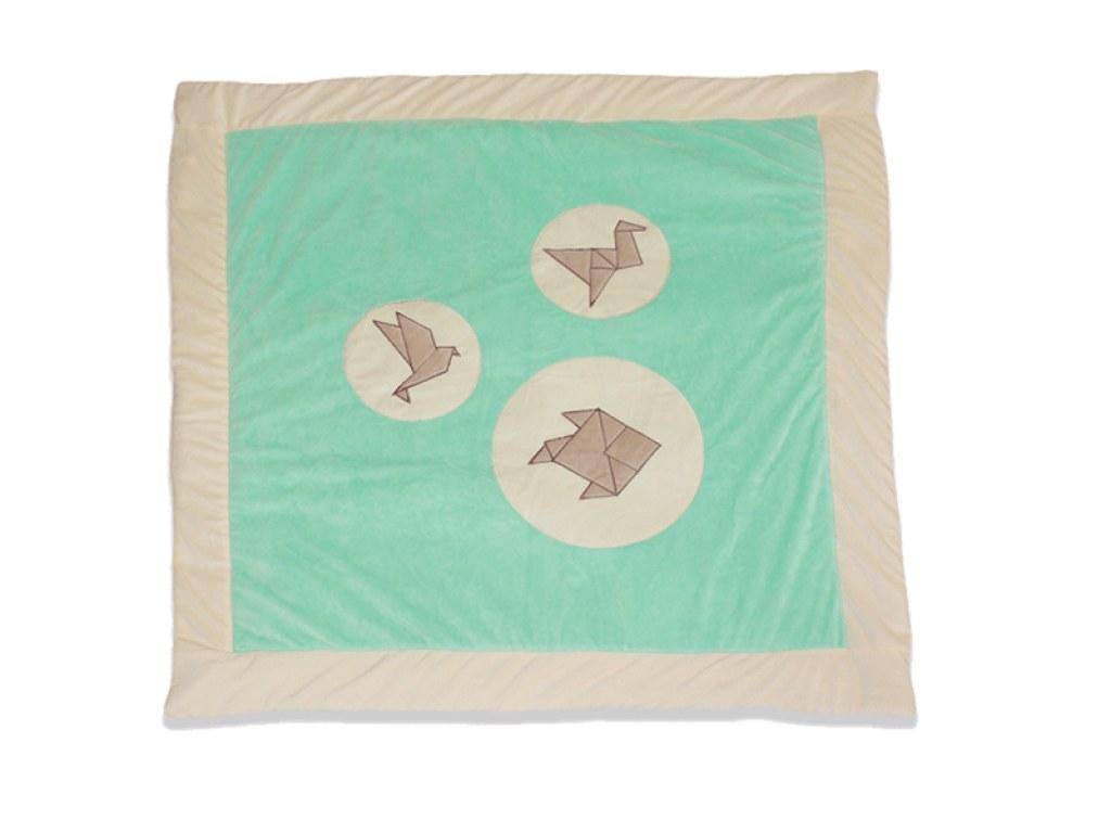 Tapis de parc 100 x 100cm origami les chatounets momentbebe Tapis de parc hexagonal
