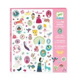 1000 STICKERS FILLE DJECO