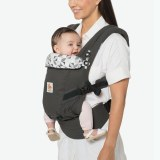 PORTE-BEBE ADAPT 3 positions ANTHRACITE ROSACES ERGOBABY