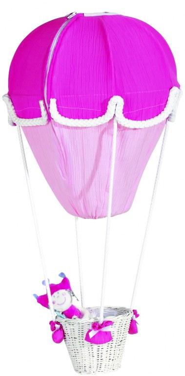 lustre montgolfiere fushia rose domiva momentbebe. Black Bedroom Furniture Sets. Home Design Ideas