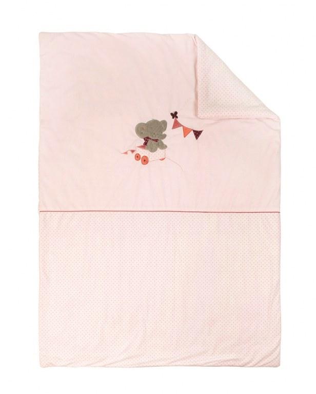 couverture de lit 100x135cm adele valentine nattou. Black Bedroom Furniture Sets. Home Design Ideas