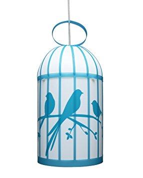 suspension cage a oiseaux bleue r m coudert momentbebe. Black Bedroom Furniture Sets. Home Design Ideas