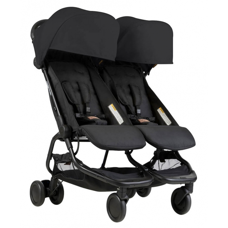 poussette double nano duo black mountain buggy momentbebe. Black Bedroom Furniture Sets. Home Design Ideas