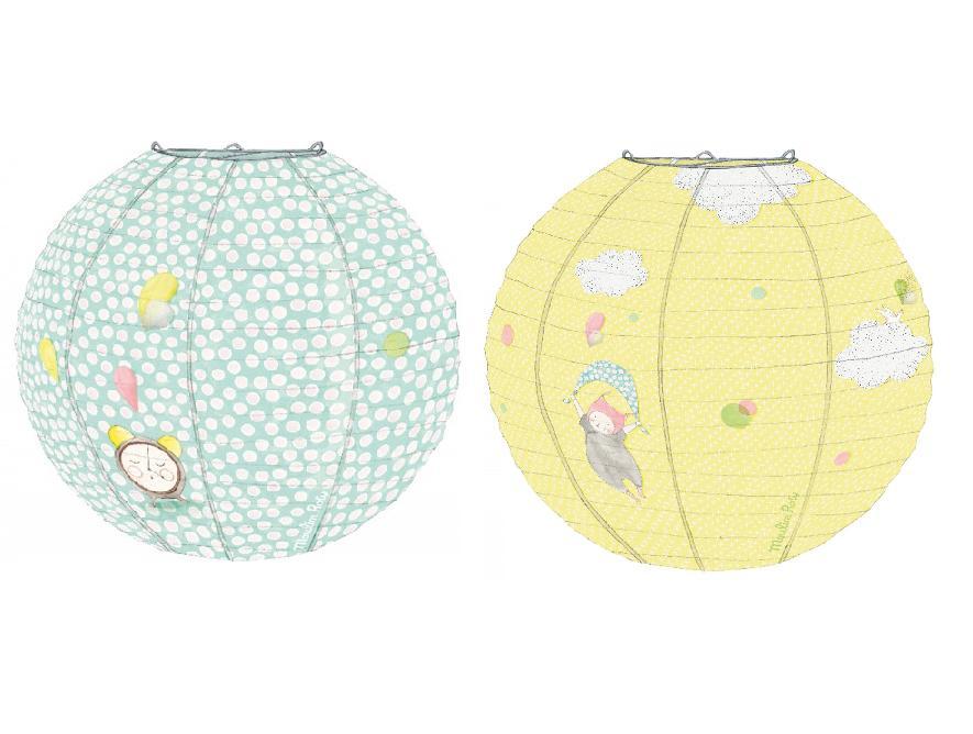 set de 2 lanternes papier les petits dodos moulin roty momentbebe. Black Bedroom Furniture Sets. Home Design Ideas