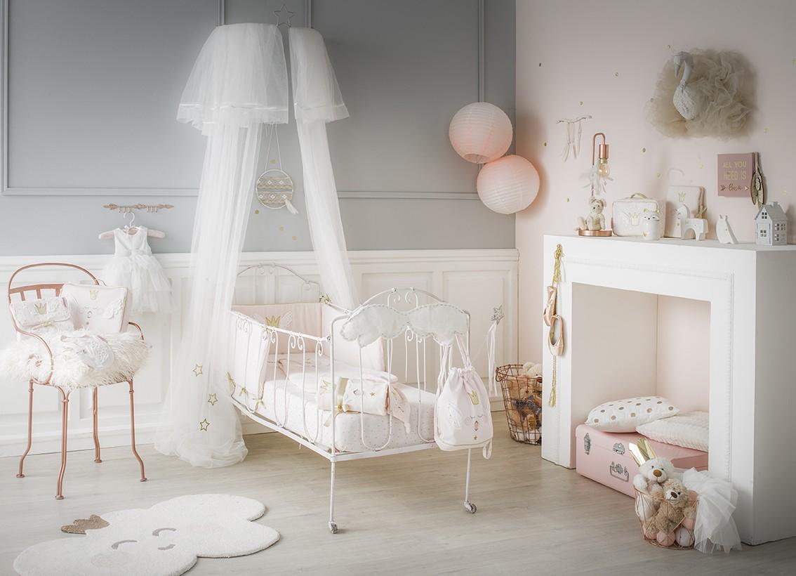 tour de lit princesse swan coton bio little crevette. Black Bedroom Furniture Sets. Home Design Ideas