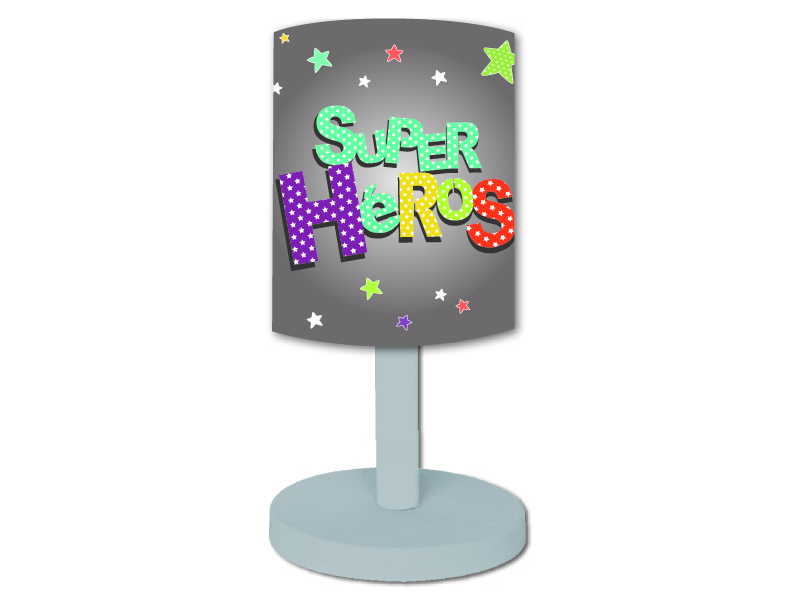 Lampe De Chevet Super Heros Titoutam Momentbebe