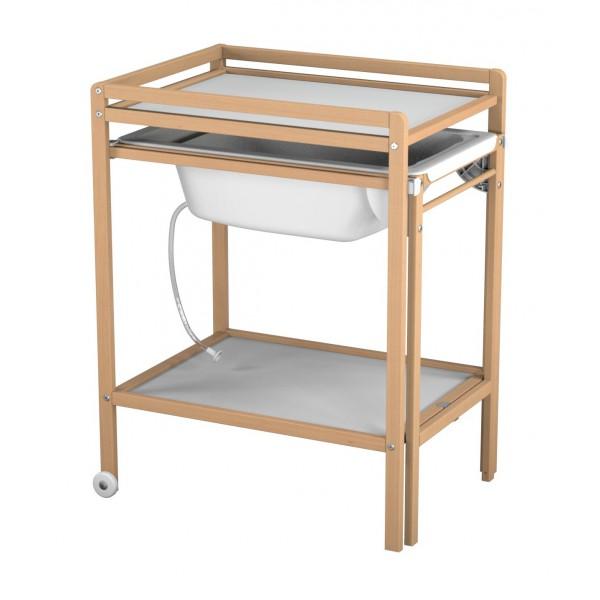 table a langer avec baignoire naturelle atelier t4 momentbebe. Black Bedroom Furniture Sets. Home Design Ideas