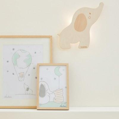 LAMPE FORME APPLIQUE ANNA ELEPHANT ANNA & MILO NOUKIES