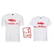 1 T-Shirt Papa & 1 T-Shirt Enfant Tel Père ... Voiture (Garçon / Fille)