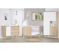 CHAMBRE DUO Lit 70x140cm + Commode SEVENTIES BLANCHE SAUTHON