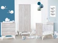 CHAMBRE TRIO Armoire + Lit 70x140cm + Commode à langer NEO SAUTHON