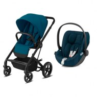 DUO POUSSETTE 4 ROUES BALIOS S Lux BLK River Blue + CLOUD Z Mountain Blue CYBEX