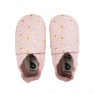 CHAUSSONS EN CUIR SOFT SOLES HEARTS BLOSSOM S (3-9mois) BOBUX