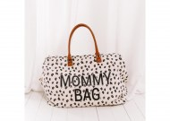 SAC A LANGER MOMMY BAG LARGE CANVAS LEOPARD CHILDHOME