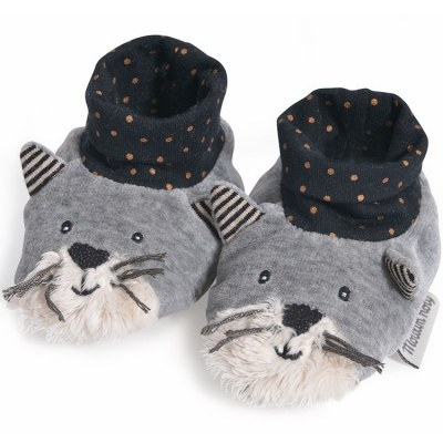 CHAUSSONS 0-6 mois FERNAND LES MOUSTACHES MOULIN ROTY