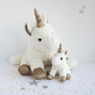 PELUCHE LICORNE OR MM HISTOIRE D'OURS