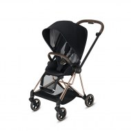 POUSSETTE MIOS PREMIUM BLACK CHASSIS ROSE GOLD CYBEX