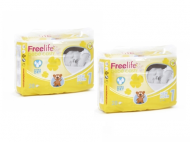 LOT DE 2 PAQUETS DE COUCHES NEW BORN 2-4kg BEBE CASH FREE LIFE