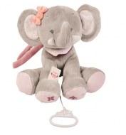PELUCHE MUSICALE ADELE L'ELEPHANT NATTOU