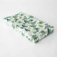 HOUSSE DE MATELAS A LANGER TROPICAL LEAF LITTLE UNICORN