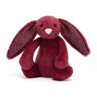 PELUCHE LAPIN BASHFUL BUNNY SPARKLY CASSIS SMALL JELLYCAT