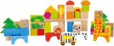 BLOCS DE CONSTRUCTION ZOO EN BOIS LEGLER