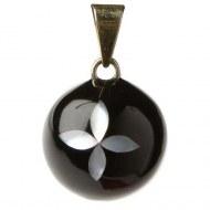 BOLA DE GROSSESSE BLACK WITH FLOWER VK270 BABYLONIA