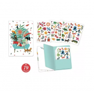 CARNET + STICKERS SARAH DJECO 78 pages