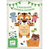 CARTES D'INVITATIONS ANIMAUX DJECO