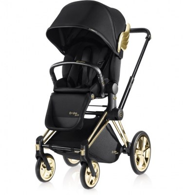 POUSSETTE PRIAM CYBEX AVEC SIEGE LUXE BY JEREMY SCOTT WINGS CHASSIS TREKKING GOLD