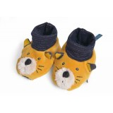 CHAUSSONS 0-6 mois LULU LES MOUSTACHES MOULIN ROTY