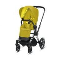 POUSSETTE PRIAM PLATINUM CHROME BLACK MUSTARD YELLOW CYBEX