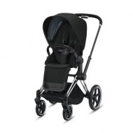 POUSSETTE PRIAM PLATINUM CHROME BLACK DEEP BLACK CYBEX