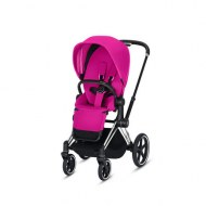 POUSSETTE PRIAM PLATINUM CHROME BLACK FANCY PINK CYBEX