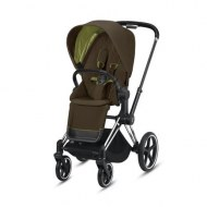 POUSSETTE PRIAM PLATINUM CHROME BLACK KHAKI GREEN CYBEX