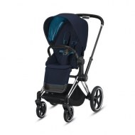 POUSSETTE PRIAM PLATINUM CHROME BLACK NAUTICAL BLUE CYBEX