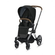 POUSSETTE PRIAM PLATINUM CHROME DEEP BLACK CYBEX