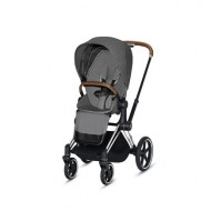 POUSSETTE PRIAM PLATINUM CHROME MANHATTAN GREY PLUS CYBEX