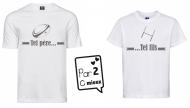 1 T-Shirt Papa & 1 T-Shirt Enfant Tel Père ... Rugby (Garçon / Fille)