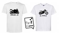 1 T-shirt Papa et 1 T-shirt Enfant *Moto* Mc ou ML