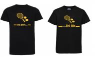 1 T-Shirt Papa & 1 T-Shirt Enfant Tel Père ... Tennis (Garçon / Fille)