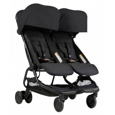POUSSETTE DOUBLE NANO DUO BLACK MOUNTAIN BUGGY