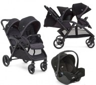 POUSSETTE DOUBLE EVALITE DUO COAL + COSY GEMM JOIE BABY