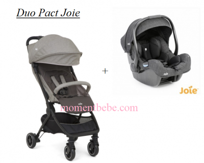DUO POUSSETTE PACT DARK PEWTER + COSY I-GEMM PAVEMENT I-size JOIE